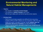 environmental monitoring and natural habitat managements