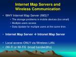 internet map servers and wireless communication