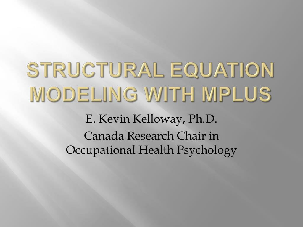 structural equation modeling with mplus l.
