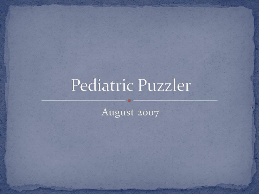 pediatric puzzler l.