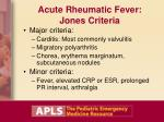 acute rheumatic fever jones criteria