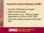cyanotic heart disease chd