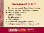 management of chf