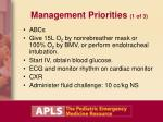 management priorities 1 of 3