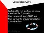 constraints cont