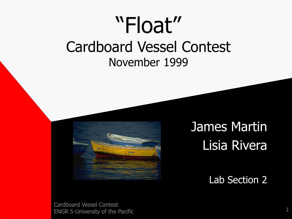 float cardboard vessel contest november 1999 l.