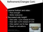 refinement changes cont