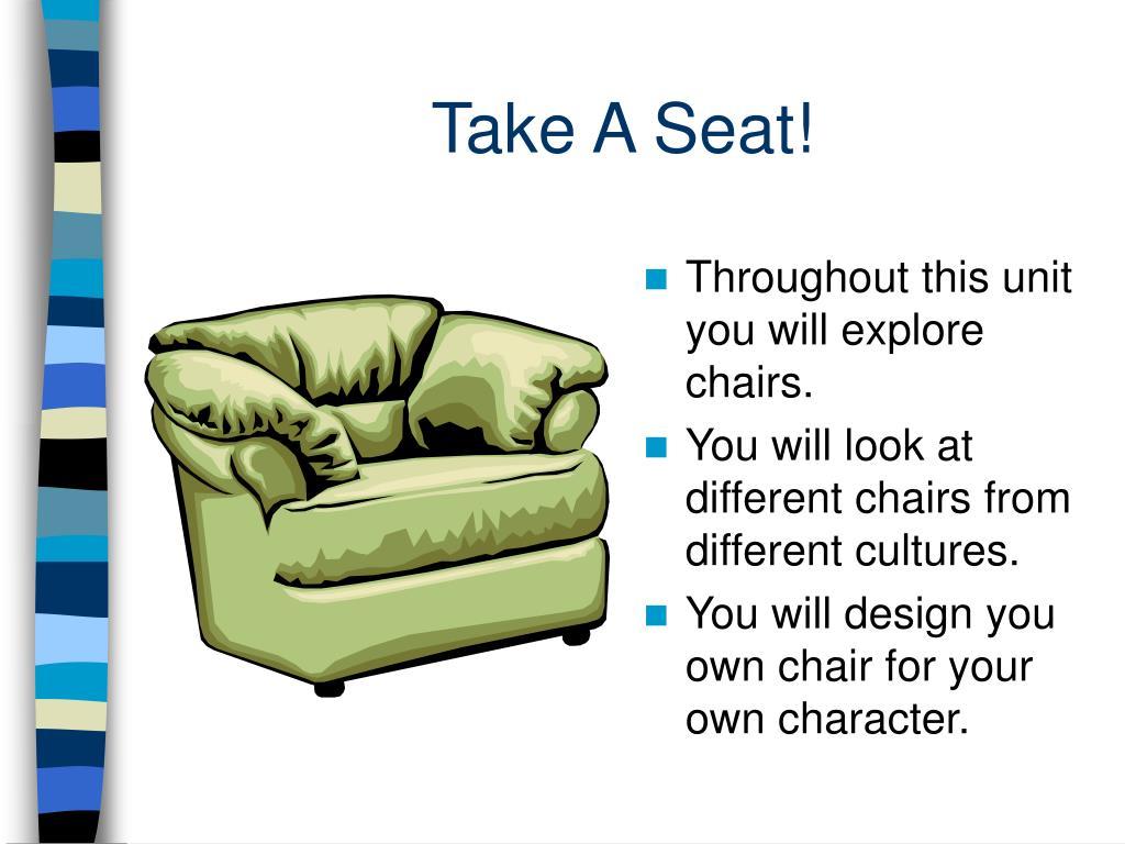 take a seat l.