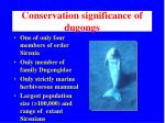 conservation significance of dugongs