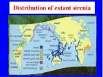 distribution of extant sirenia