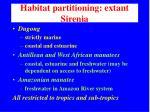 habitat partitioning extant sirenia