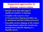 suggested approaches to dugong conservation