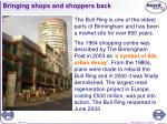 bringing shops and shoppers back