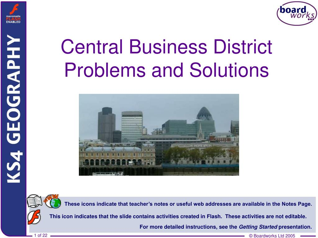 central business district problems and solutions l.