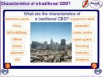 characteristics of a traditional cbd