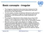 basic concepts irregular