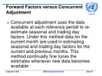 forward factors versus concurrent adjustment45