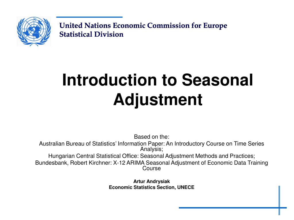 introduction to seasonal adjustment l.