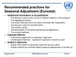 recommended practices for seasonal adjustment eurostat39