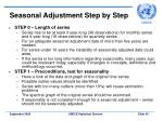 seasonal adjustment step by step