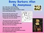bonny barbara allan by anonymous