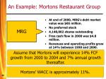 an example mortons restaurant group