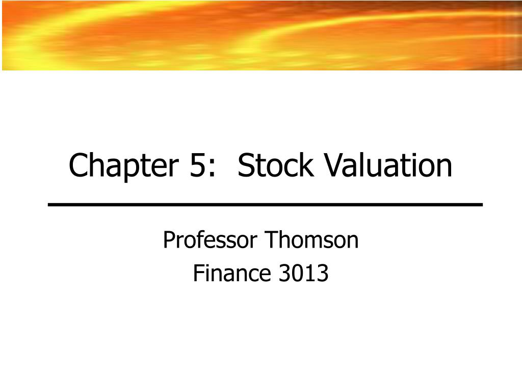 chapter 5 stock valuation l.