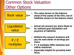 common stock valuation other options