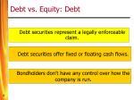 debt vs equity debt