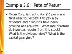 example 5 6 rate of return