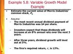example 5 8 variable growth model example