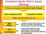 investment banks role in equity offerings53