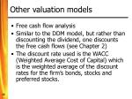 other valuation models