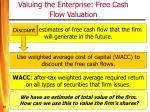 valuing the enterprise free cash flow valuation