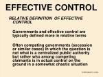 effective control