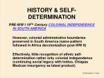 history self determination