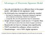 advantages of electronic signature model