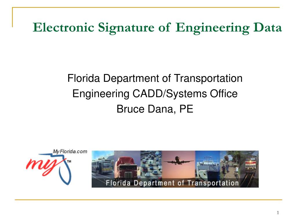 electronic signature of engineering data l.