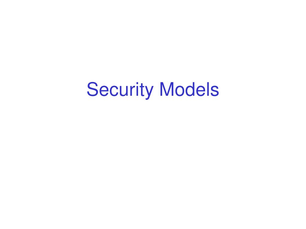 security models l.