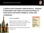 humanities and cultures