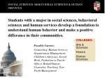 social sciences behavioral sciences human services