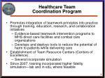 healthcare team coordination program