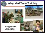 integrated team training