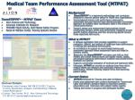 medical team performance assessment tool mtpat