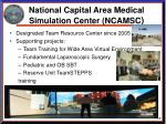 national capital area medical simulation center ncamsc