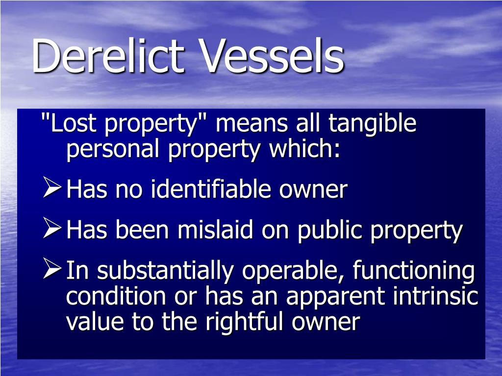 Derelict Vessels