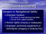 the problems associated with unregulated anchoring6