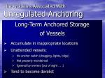 the problems associated with unregulated anchoring7