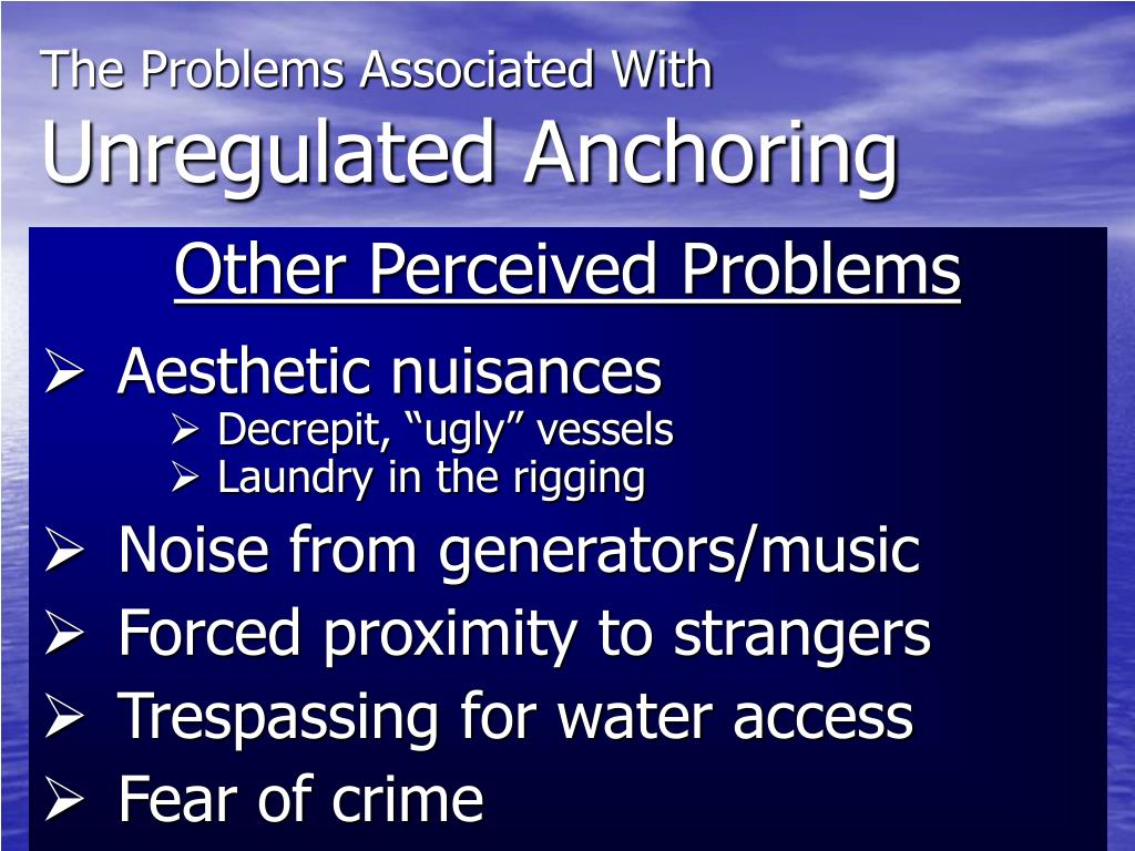 The Problems Associated With