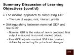 summary discussion of learning objectives cont d49